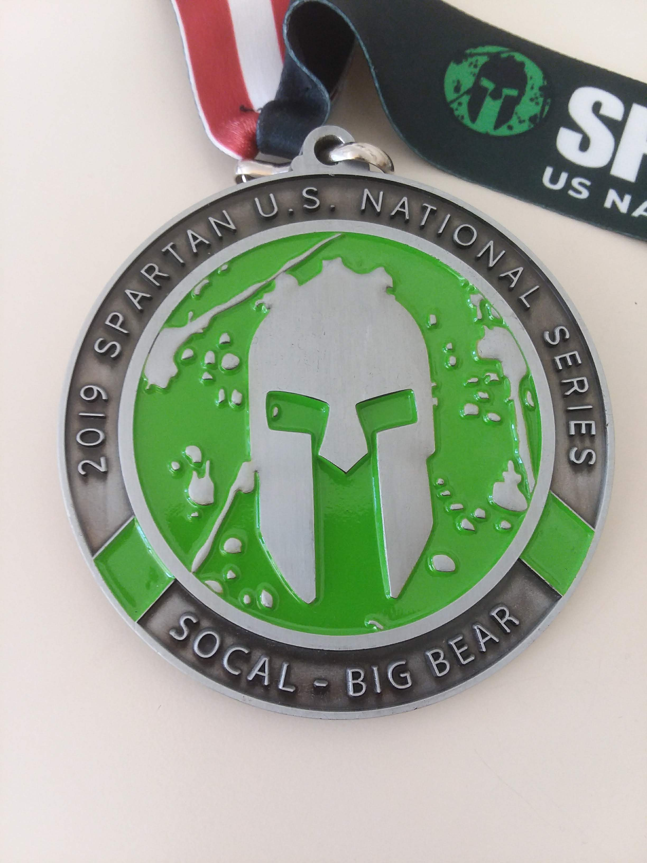 2019 Spartan Race SoCal BEAST Medal with Wedge